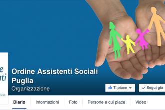 Da oggi anche l'Ordine degli Assistenti Sociali della Puglia è su Facebook!