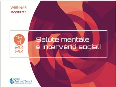 Salute mentale e interventi sociali – Mod. 1
